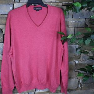 Brooks Brothers Supima Cotton v neck sweater XL